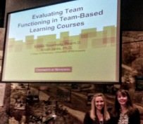 Andrea Rosenberg and Kristin Janke present their project on Evaluating Team Functioning in TBL courses at the 2015 ADT conference